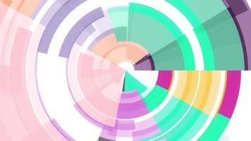 círculos de padrão abstrato video