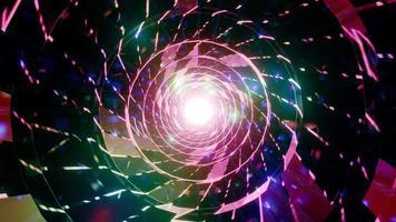 partículas brillantes o destellos de lente 3d ilustración vj loop