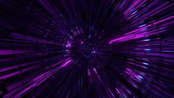 rotierender Reflexionsglastunnel mit Neonlichtern