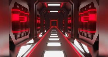 animação de loop de corredor de néon vermelho
