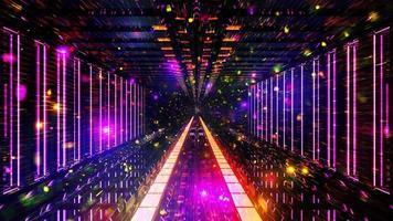particelle di spazio incandescente fantascienza video