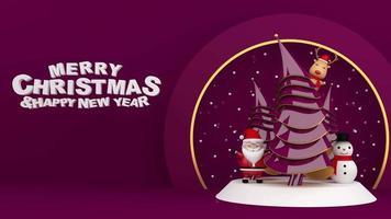 exibição de feliz natal e feliz ano novo