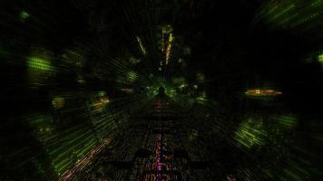 puntos de luz en movimiento en el túnel espacial video