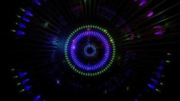 túnel de efeitos de luz brilhante ilustração 3d vídeo de fundo video