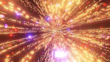 partículas de galáxia espacial azul dourado video