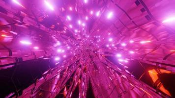 incandescente neon stelle sci fi tunnel spaziale