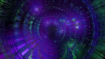 túnel de efectos de luces de colores