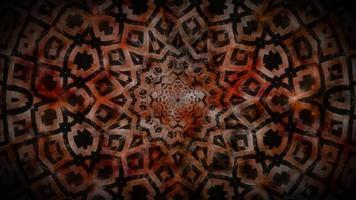Ilustración 3d abstracto marrón y negro