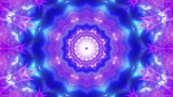 Neonpunkte Kaleidoskop mit leuchtendem Lichteffekt