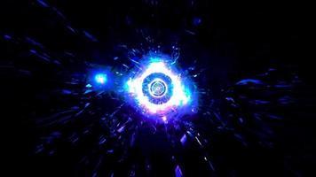 ilustração 3D brilhante hiperespaço galáxia vj loop