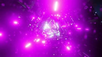 leuchtend rosa Hyperraumtunnel