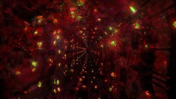 sfeervolle tunnel met waterbellen video