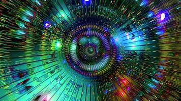 abstrakter cooler bunter Tunnel