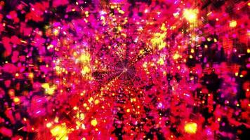 Colorful Space Tunnel Dots 3D Illustration DJ Loop video