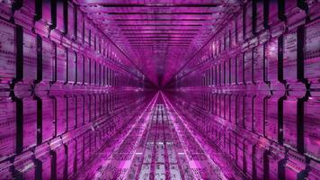 cooler technischer Science-Fiction-Tunnel
