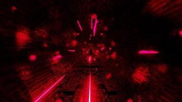 Sci-Fi-Tunnel mit roten Raumpartikeln
