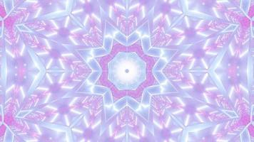 leuchtende Neonpunkte Kaleidoskop Mandala