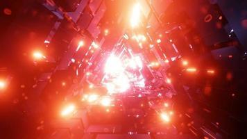 túnel de partículas espaciales brillantes video