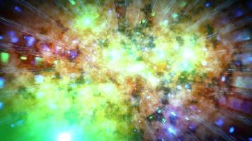 brilhante espaço galáxia ilustração 3d vj loop