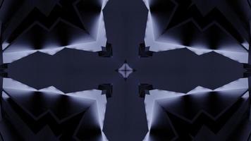 caleidoscópio de mandala preto escuro