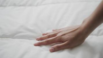 Hand Touching The Bed video