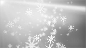 flocos de neve brancos caindo bokeh clarão
