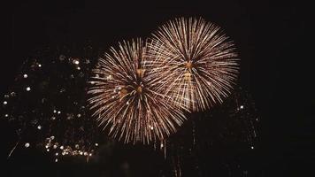 fundo abstrato de fogos de artifício de férias