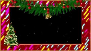 moldura de natal com árvore giratória video