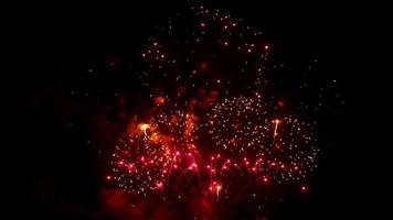fundo colorido de fogos de artifício de férias video