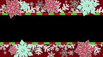 cornice di Natale con canale alfa
