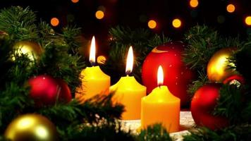 Christmas candles and New Year Decoration video