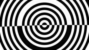 círculo hipnotizador blanco y negro abstracto