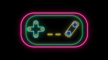 controlador de juego láser de neón