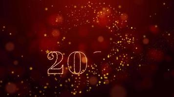 2021 and happy new year. colorful exploding fireworks. 2021 happy new year. video