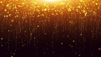 Gold glitter Happy new year Background video