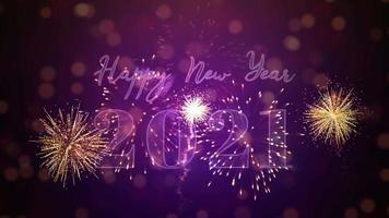 Happy new year 2021 Celebration background