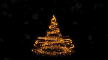 Beautiful Christmas Tree Particles Background Video Loop