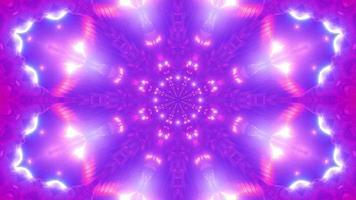 Luzes de néon piscando túnel caleidoscópio ilustração 3d vj loop video