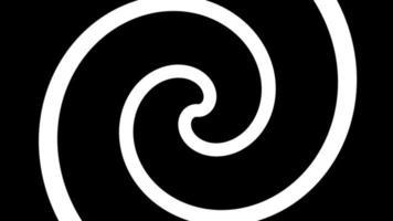 fond noir et blanc hypnotique 4k