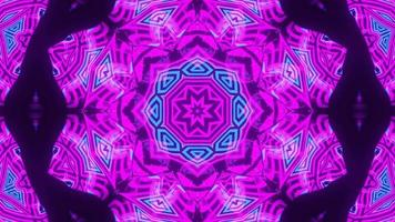 sich schnell bewegende abstrakte Formen 3d Illustration Kaleidoskop DJ Schleife