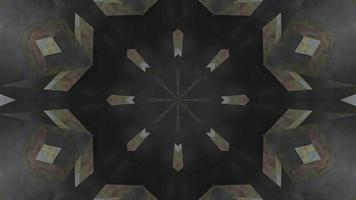 ilustração em 3D do caleidoscópio de fumaça tóxica em forma de estrela vj loop video