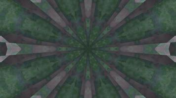 mandala de fumaça verde e cinza ilustração 3d vj loop