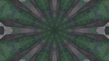 mandala de fumaça verde e cinza ilustração 3d vj loop video