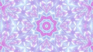 estrela abstrata formas de mudança de cor ilustração 3D visual vj loop