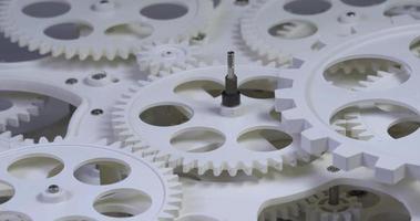 rotação de engrenagens de plástico antigo