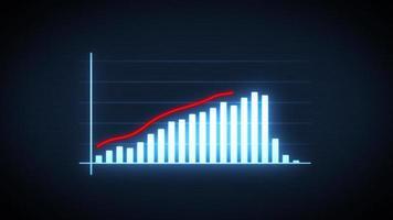 infografía de flecha de crecimiento y éxito empresarial video