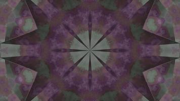 ilustração 3D altamente abstrata em forma de estrela mandala dj loop