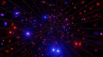 Piscando cor mudando as partículas do espaço ilustração 3D
