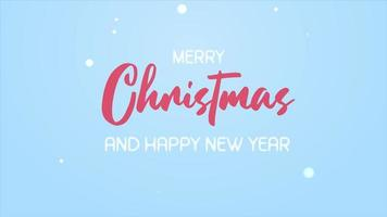 Le père Noël et ses amis de dessin animé s'entraident pour décorer le sapin de Noël avec des boules de Noël et des étoiles qui brillent pendant un hiver enneigé.