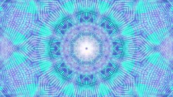 Ilustração 3D Caleidoscópio de pontos piscantes em forma de estrela loop de DJ